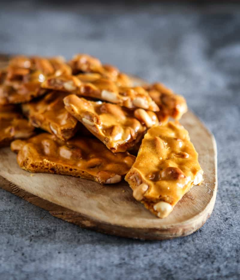 peanut brittle close up photo