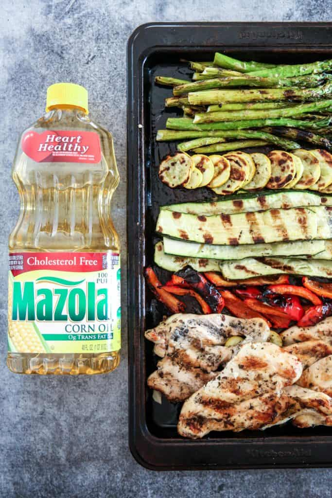 Mazola Corn Oil and Grilled Vegetables