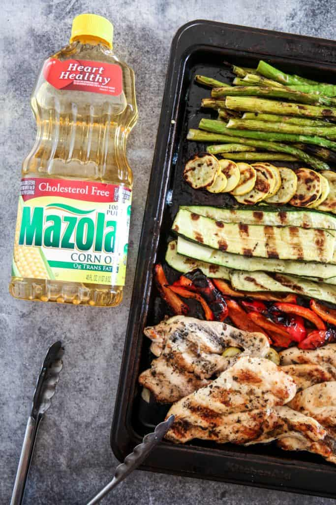 Grilled Chicken with Roasted Garlic Herb Marinade