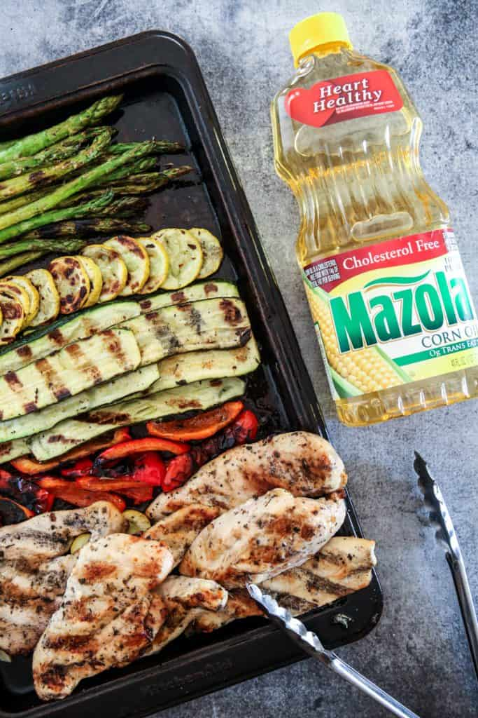 Mazola Corn oil with Grilled Chicken with Roasted Garlic Herb Marinade