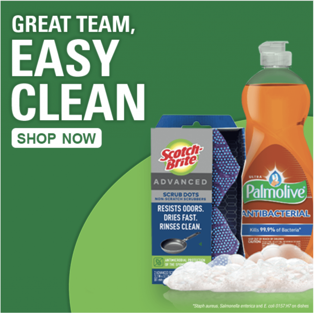 Shop Now for Palmolive and Scotch-Brite